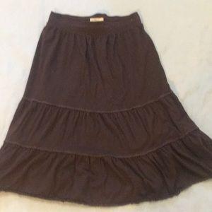 Covington brown peasant skirt euc
